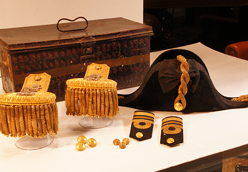 19th Century Dress uniform accessories for a Lieutenant Commander in the Royal Navy