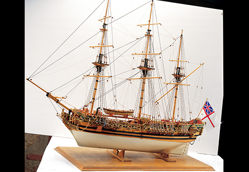 Model of a British Royal Navy Vessel